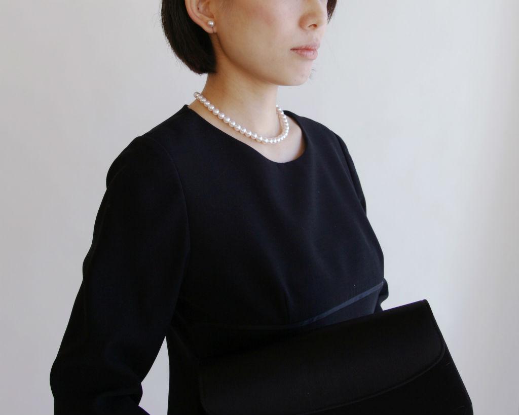 真珠ネックレス着用イメージ