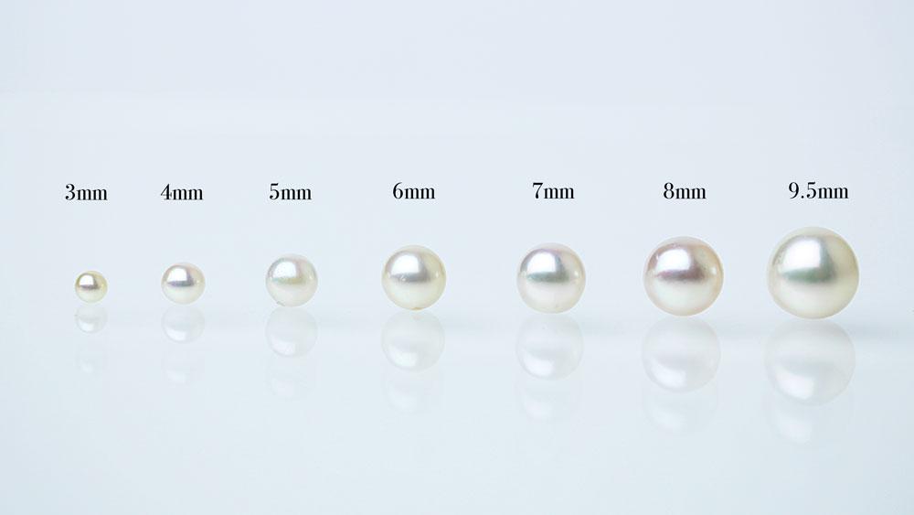 真珠のサイズ