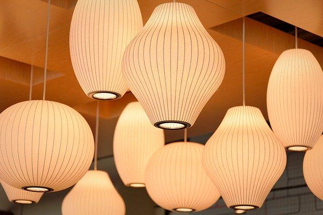 ランプシェードの拡散光