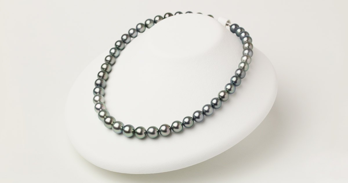 タヒチ黒蝶真珠のネックレス