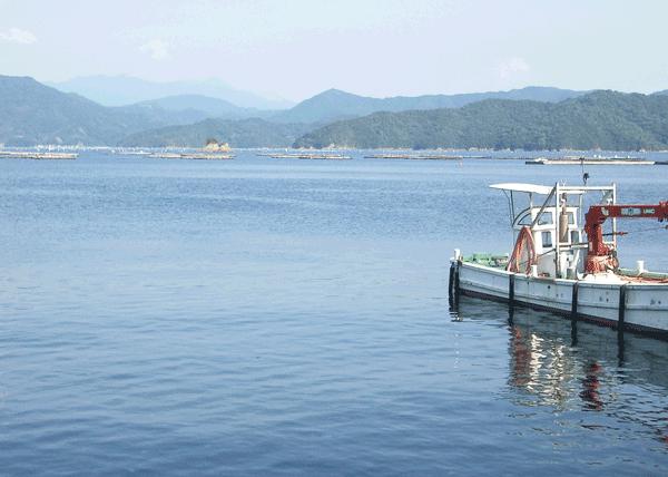 宇和海と作業船