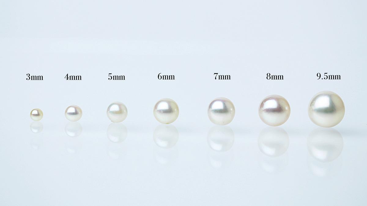 真珠の大きさ比較図